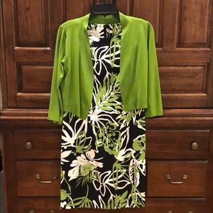 Kim Rogers Sleeveless Dress with Bolo Jacket SZ 8